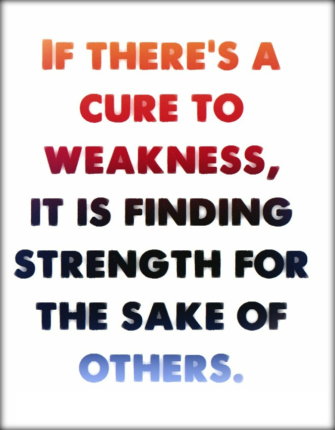 Finding Strength for Others