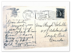 postcard to great grandmother
