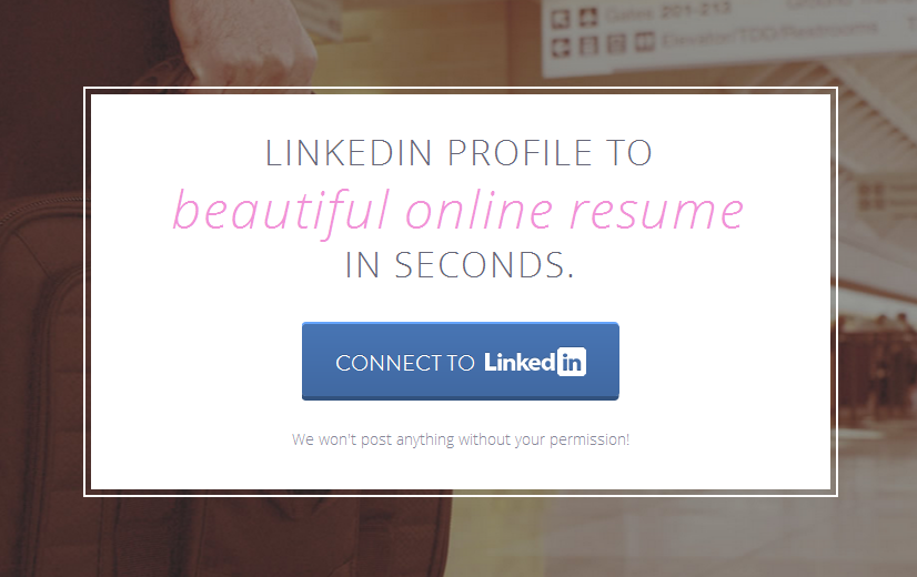 Screenshot from Strikingly Linkedin Page